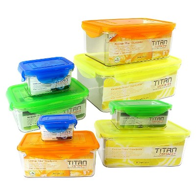 Titan 16-Piece Assorted Rectangular Storage Set