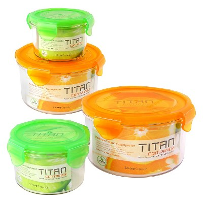 Titan 8-Piece Round Storage Set