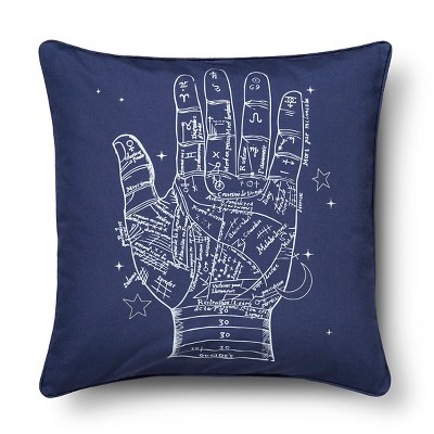 "Hand Screenprint Throw Pillow Navy (20""x20"" ) - The Industrial Shop"