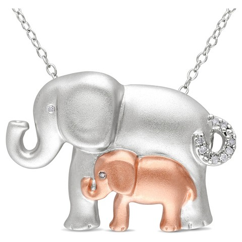 05 ct t w elephant pendant necklace i target
