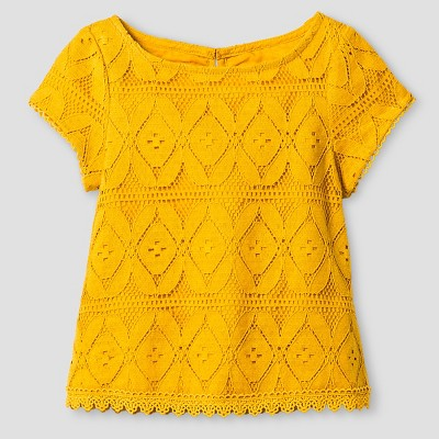 Baby Girls' Lace Top Blouse - Beeswax 12M - Genuine Kids™