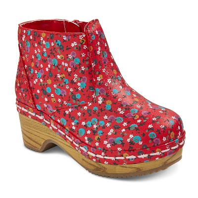 Toddler Girls' Genuine Kids Penina Floral Wooden Fashion Boots - Red  6