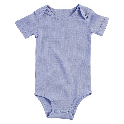 Aden + Anais® Baby Boys' Short-Sleeve Solid Bodysuit - Blue 3-6M