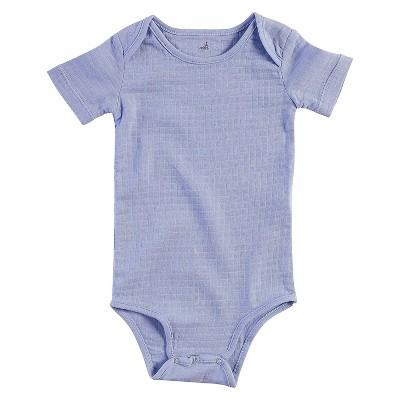 Aden + Anais® Baby Boys' Short-Sleeve Solid Bodysuit - Blue 6-9M