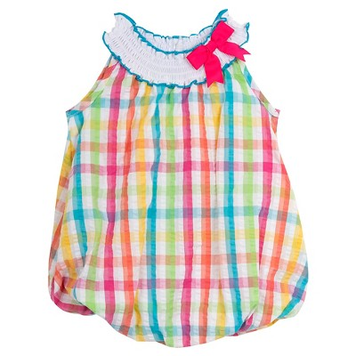 Rare, Too! Baby Girls' Plaid Seersucker Bubble - Pink 0-3M