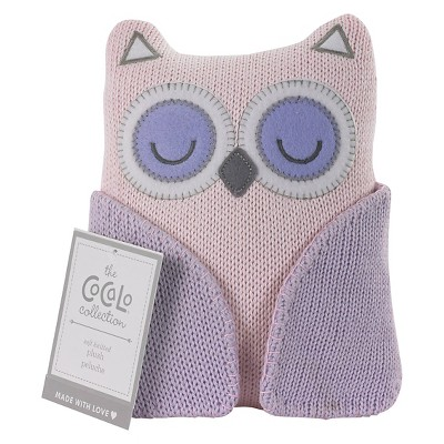 CoCaLo Knitted Toy - Owl - Pink Orchid