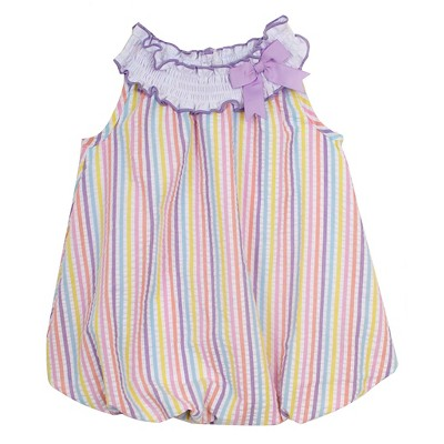 Rare, Too! Baby Girls' Striped Seersucker Bubble - Pink 0-3M