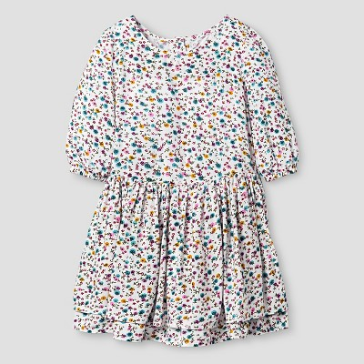Toddler Girls' A Line Floral Print Dress Cream 5T - Genuine Kids from Oshkosh™