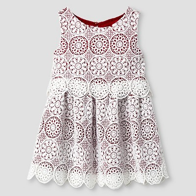 Baby Girls' A Line Dress - Almond  Cream 12M - Genuine Kids™