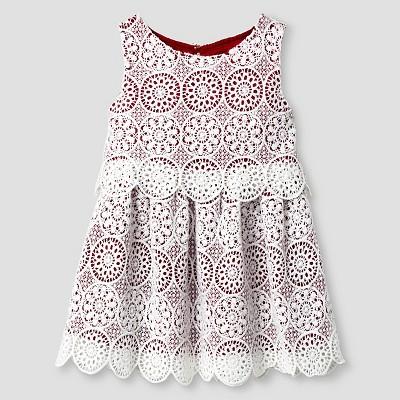 Baby Girls' A Line Dress - Almond  Cream 12M - Genuine Kids™