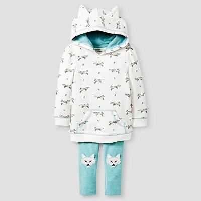 Baby Girls' Wolf Set Hoodie & Wolf Set Legging Cream/Wolf Print/Aqua - 12M - Genuine Kids from Oshkosh™