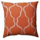 "Pillow Perfect Cassie Tangerine Floor Pillow - Orange (24.5x24.5"")"
