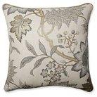 """Pillow Perfect Jacobean Flair Vermeil Floor Pillow - Grey (25x25"""")"""