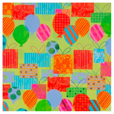 Papyrus Balloons and Presents Gift Wrap