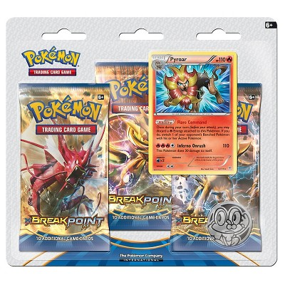 Pokemon Trading Card Game BreakPoint 3 Pack Blister featuring Pyroar