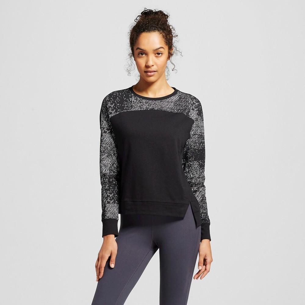 C9 Champion Women's Cut Out Crew Sweatshirt - Black/White L, Size: Large