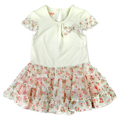 Baby Grand Signature Baby Girls' Chiffon Dress - Off White 6-9M