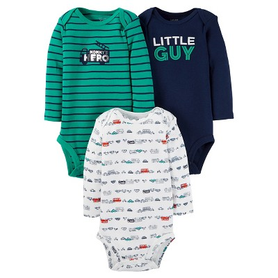 Baby Boys' Long Sleeve Little Guy Bodysuit Set Blue 6M - Just One You™Made by Carter's®