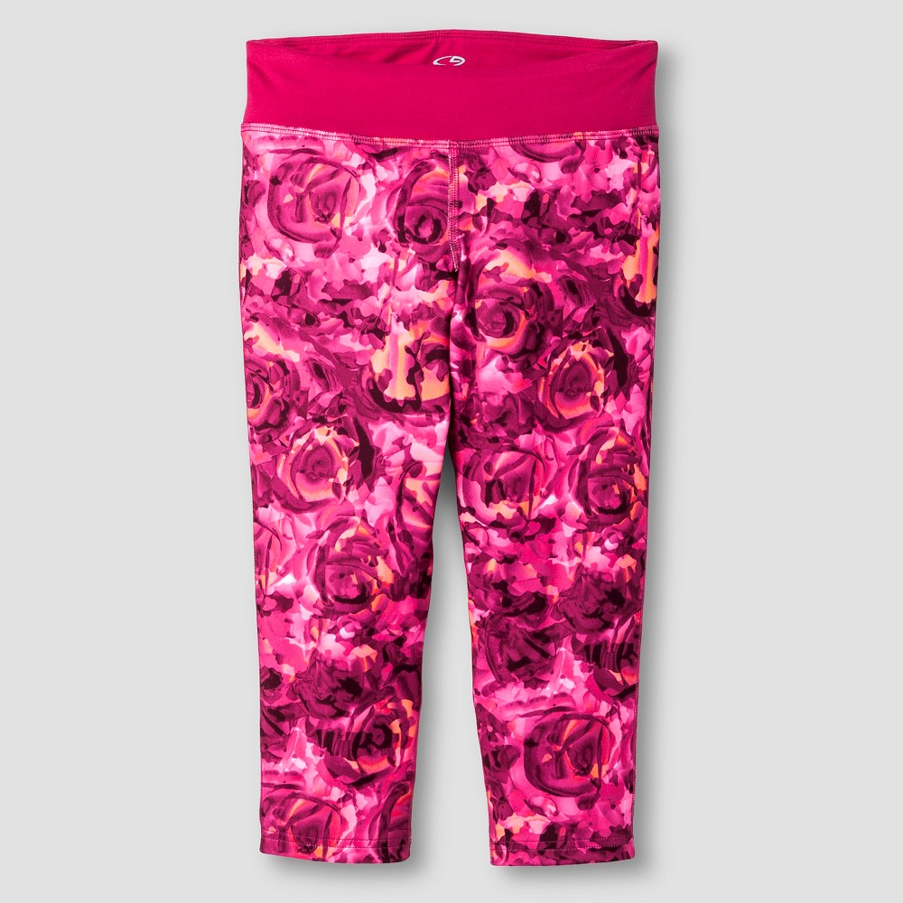 Girls' Printed Performance Yoga Capri Rose (Pink) XL - C9 Champion, Girl's
