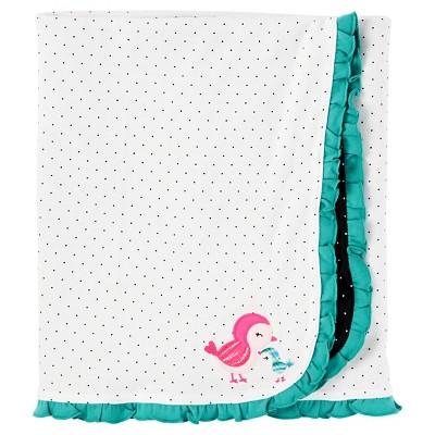 Baby Girls' Mint Floral Bird Internlock Blanket  - Just One You™Made by Carter's®