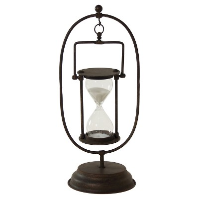 Decorative Standing Metal Hourglass