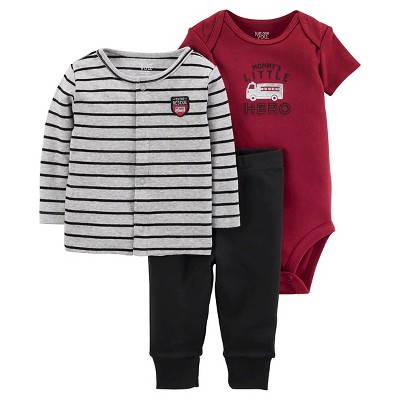 Baby Boys' 3 Piece Hero Cardigan Set 9M - Just One You™Made by Carter's®