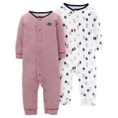 Baby Boys' Football Jumpsuit Set NB - Just One You™Made by Carter's®