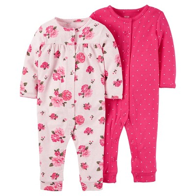 Baby Girls' 2 Pack Floral Jumpsuit Set NB - Just One You™Made by Carter's®