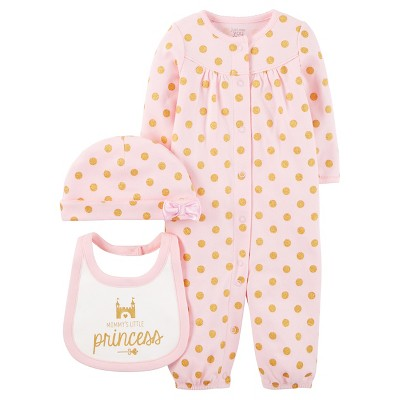 Baby Girls' 3 Piece Pink Converter Gown Set 3M - Just One You™Made by Carter's®