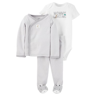 Baby 3 Piece Giraffe Side Snap Tee Set NB - Just One You™Made by Carter's®