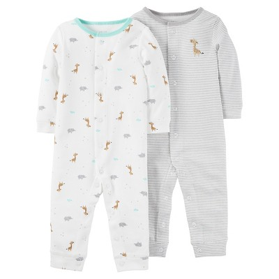Baby 2 Pack Jumpsuit Set Grey Moon 3M - Just One You™Made by Carter's®
