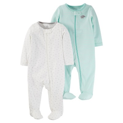 Baby 2 Pack Sleep N' Play Set Cool Mint NB - Just One You™Made by Carter's®