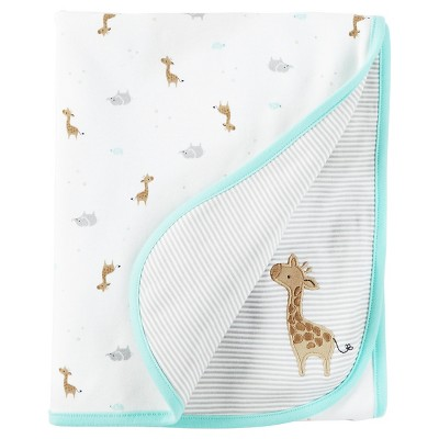Baby Mint Giraffe Interlock Blanket  - Just One You™Made by Carter's®