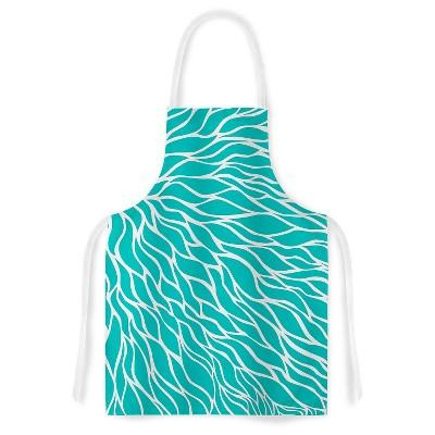 """KESS Apron NL Designs """"Swirls Tiffany"""" - Teal (31"""" x 36"""")"""