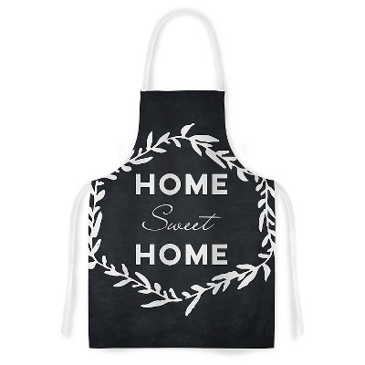 "KESS Apron KESS Original ""Home Sweet Home"" - Black (31"" x 36"")"