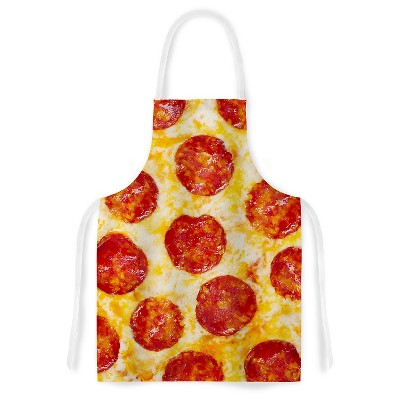 "KESS Apron KESS Original ""Pizza My Heart"" - Yellow/Red (31"" x 36"")"