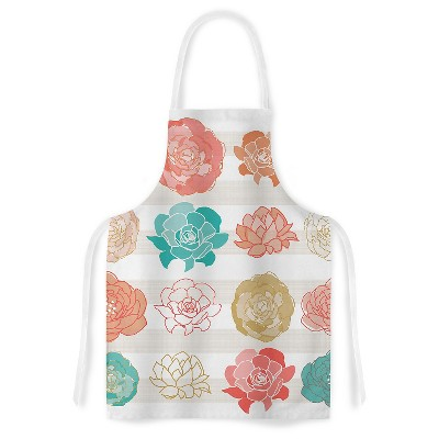"KESS Apron Pellerina Design ""Flower Square"" - Multi-Colored (31"" x 36"")"