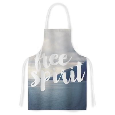 "KESS Apron Catherine McDonald ""Free Spirit"" - Gray/Blue (31"" x 36"")"