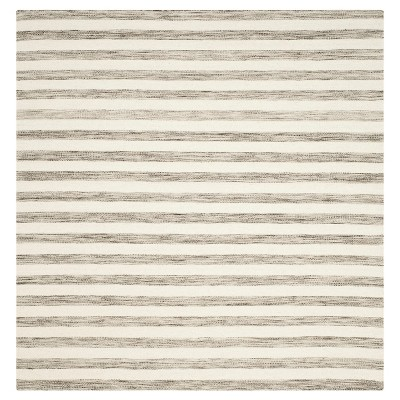 Safavieh Roland Dhurrie Area Rug - Brown / Ivory (6' X 6')