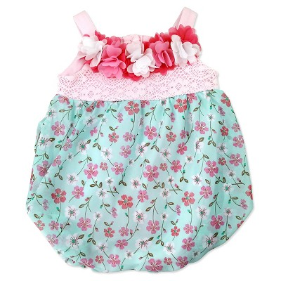 Baby Grand Signature Baby Girls' Bubble Romper - Pink 6-9M