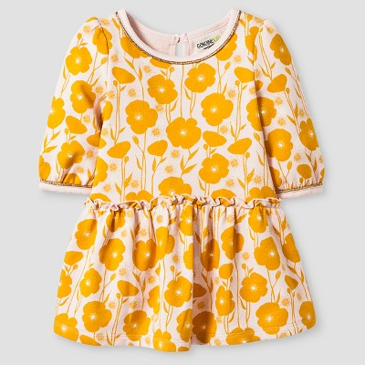 Baby Girls' French Terry Floral Print Dress Pink Floral Print - 12M - Genuine Kids from Oshkosh™