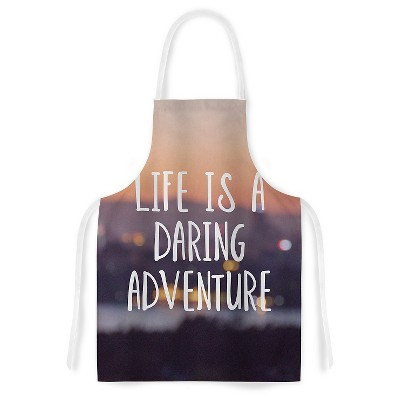 "KESS Apron Jillian Audrey ""Life Is A Daring Adventure"" - Multi-Colored (31"" x 36"")"
