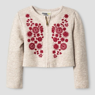 Baby Girls' French Terry Bomber Jacket - Beige 12M  - Genuine Kids from Oshkosh™