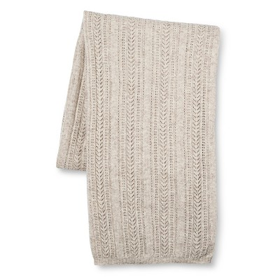 "Aura Knitted Throw (55""x79"") Cream - Fable®"