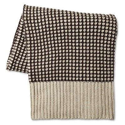 "Loya Olive Knitted Throw (50""x60"") Ash - Bedeck 1951®"