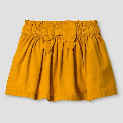 Baby Girls' Fine Wale Cord Skirt Yellow 12M - Genuine Kids from Oshkosh™
