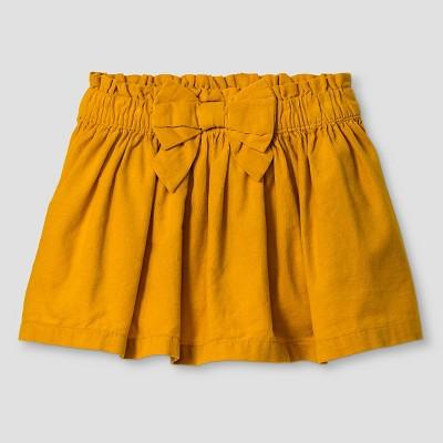 Genuine Kids Baby Girls' Fine Wale Cord Skirt - Yellow 12 M