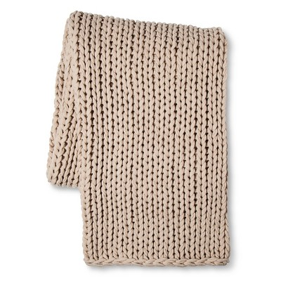 "Bellamy Knitted Throw (51""x67"") Cream - Fable®"