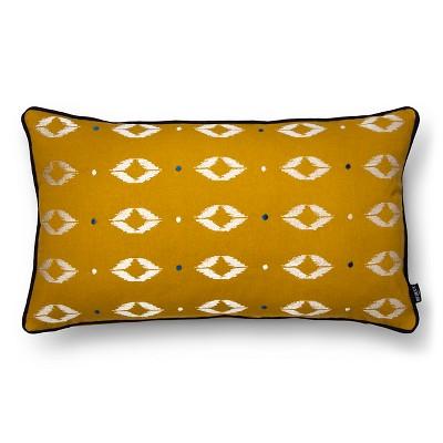 """Ziba Decorative Pillow (12""""X20"""") Gold - Bedeck 1951®"""