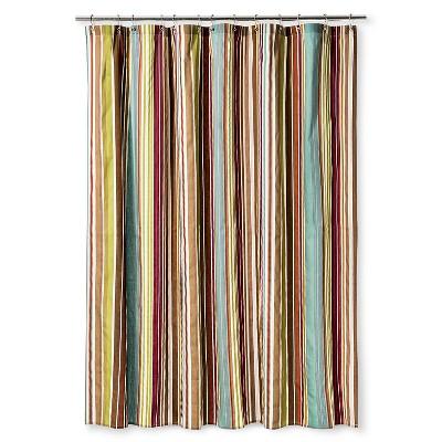 """Ila Stripe Shower Curtain Magenta (72""""x72"""") - Bedeck 1951®"""
